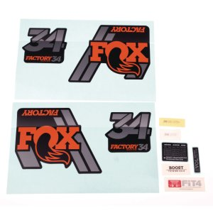 FOX 18 34 F-S orange Logo mat black